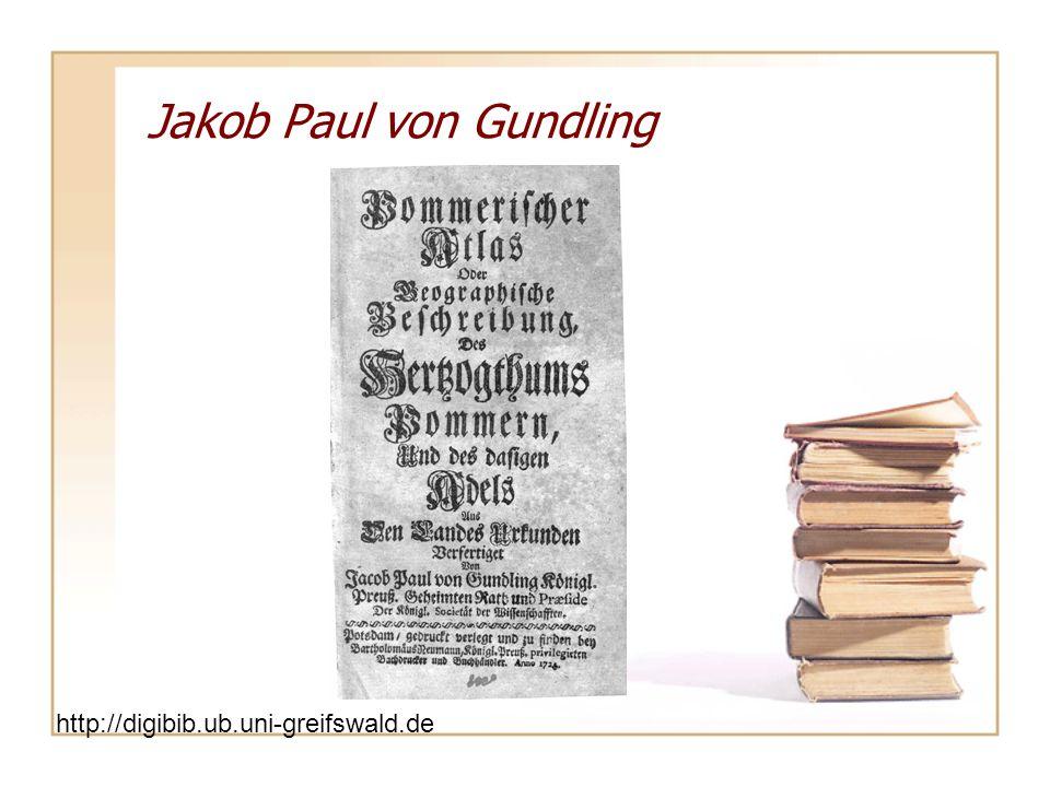 Jakob Paul von Gundling