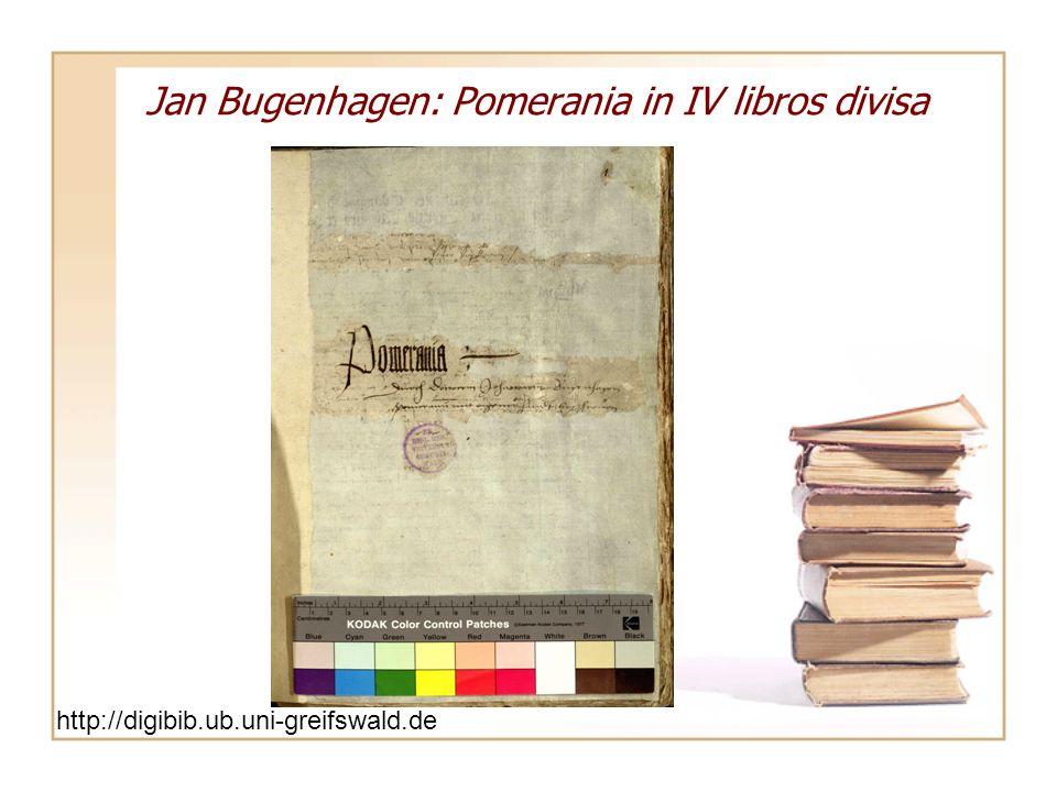 Jan Bugenhagen: Pomerania in IV libros divisa