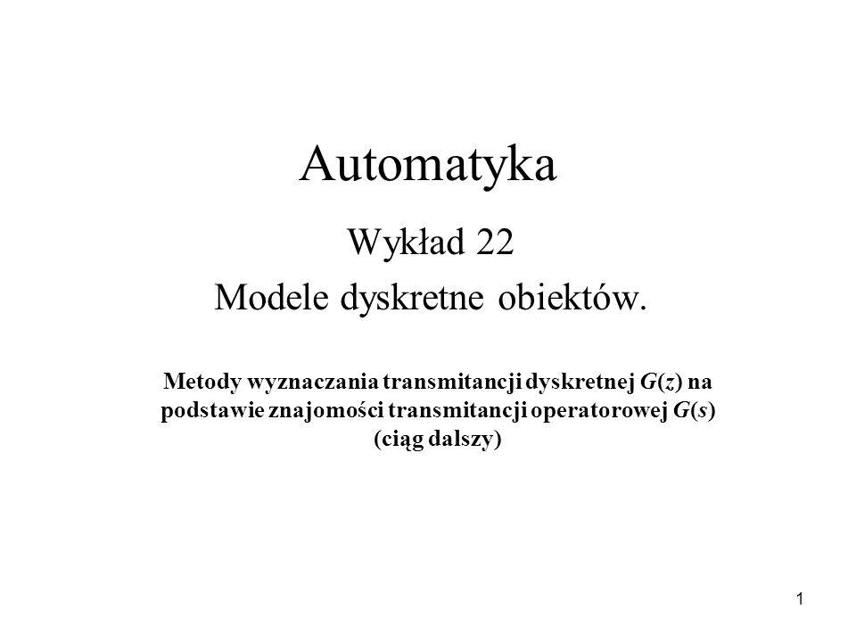 Wykład 22 Modele dyskretne obiektów.