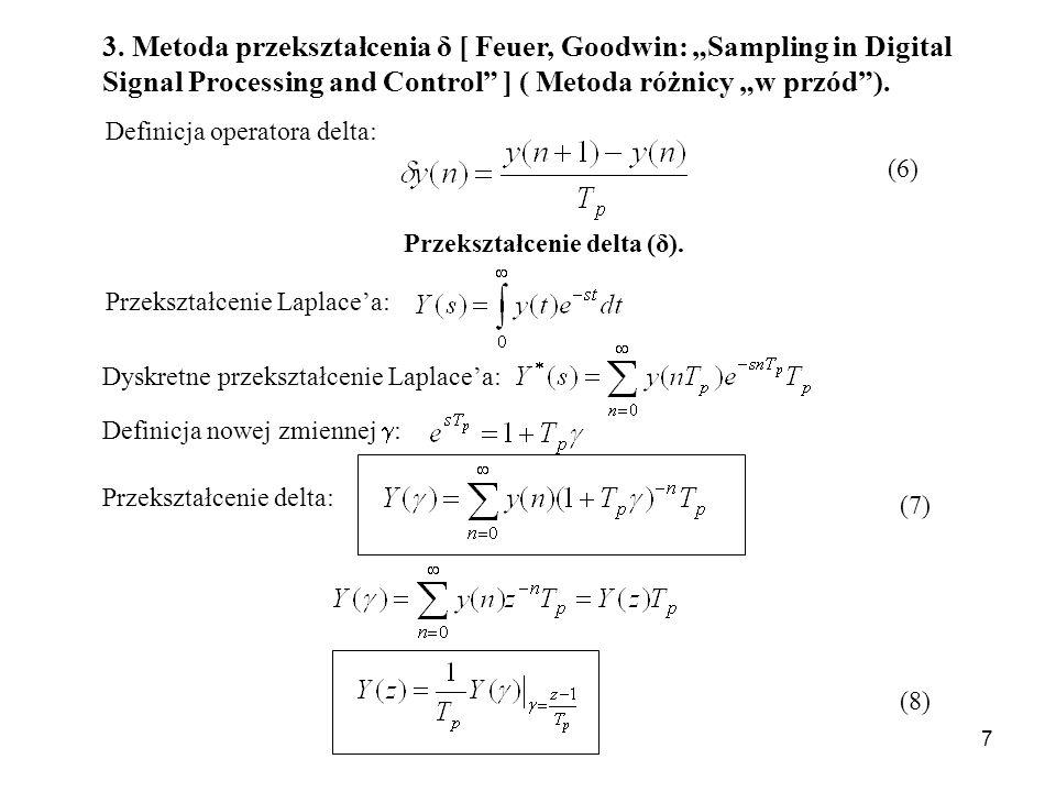 Przekształcenie delta (δ).