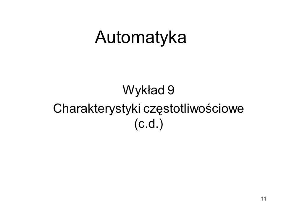 Wykład 9 Charakterystyki częstotliwościowe (c.d.)