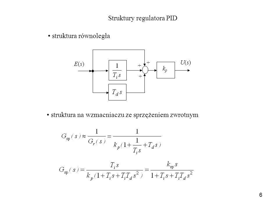 Struktury regulatora PID