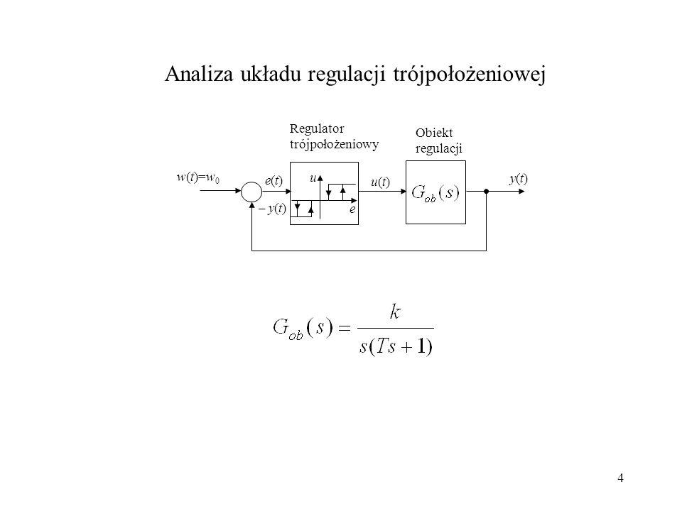 Analiza układu regulacji trójpołożeniowej