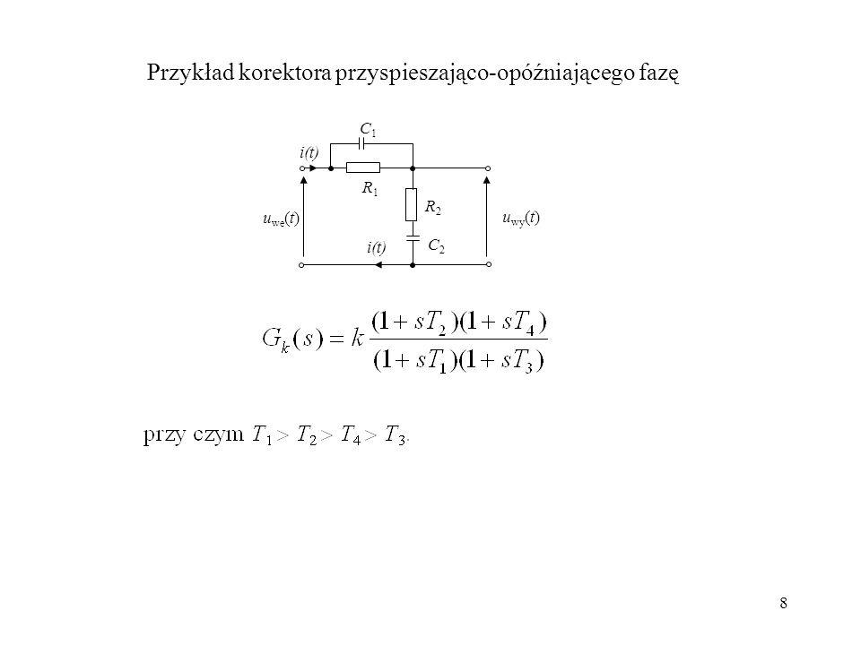 Przykład korektora przyspieszająco-opóźniającego fazę