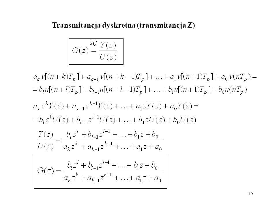 Transmitancja dyskretna (transmitancja Z)