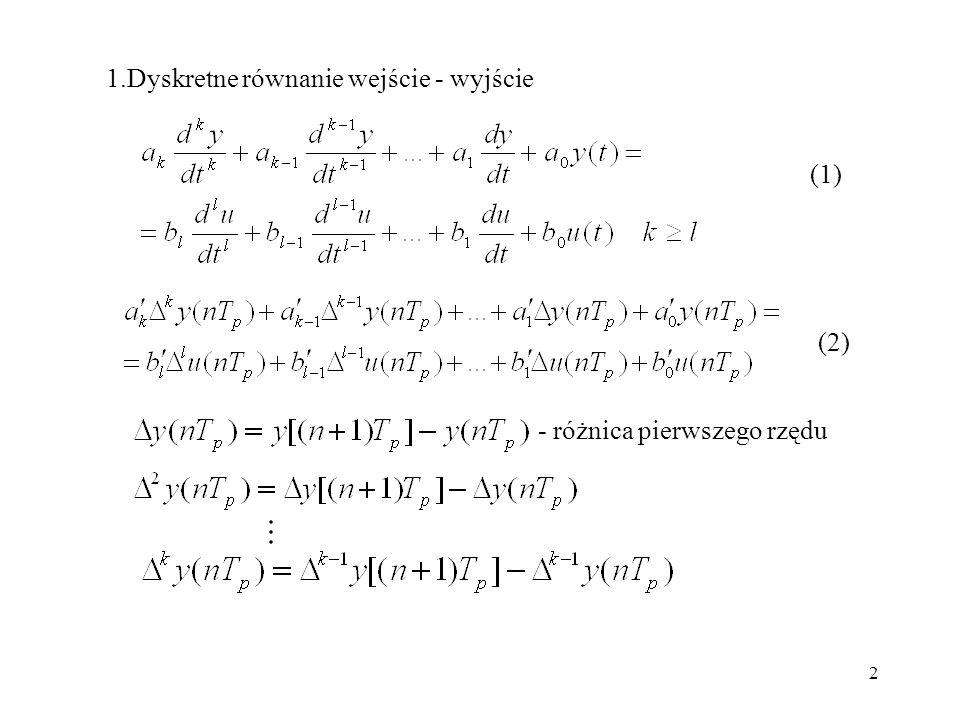 1.Dyskretne równanie wejście - wyjście