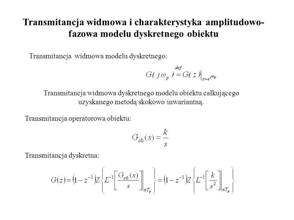 Transmitancja widmowa i charakterystyka amplitudowo-fazowa modelu dyskretnego obiektu