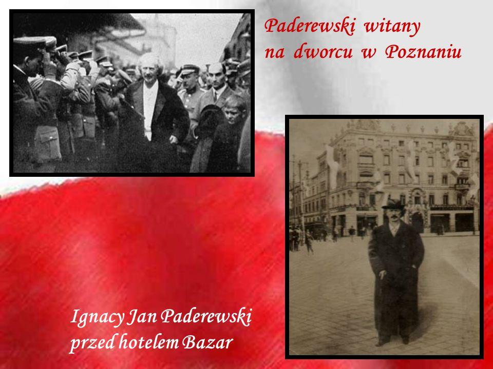 Paderewski witany na dworcu w Poznaniu