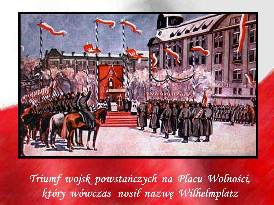 Triumf wojsk powstańczych na Placu Wolności,