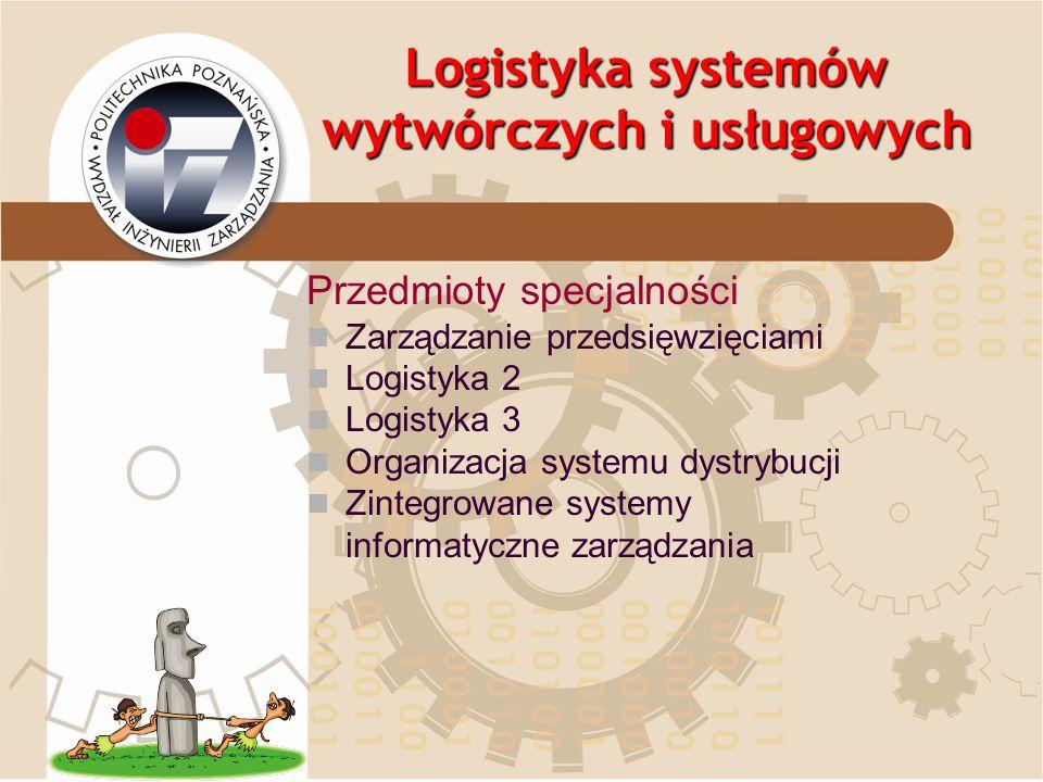 Logistyka systemów wytwórczych i usługowych