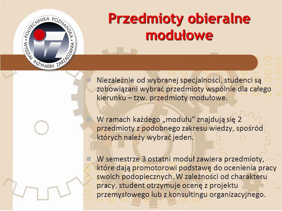 Przedmioty obieralne modułowe