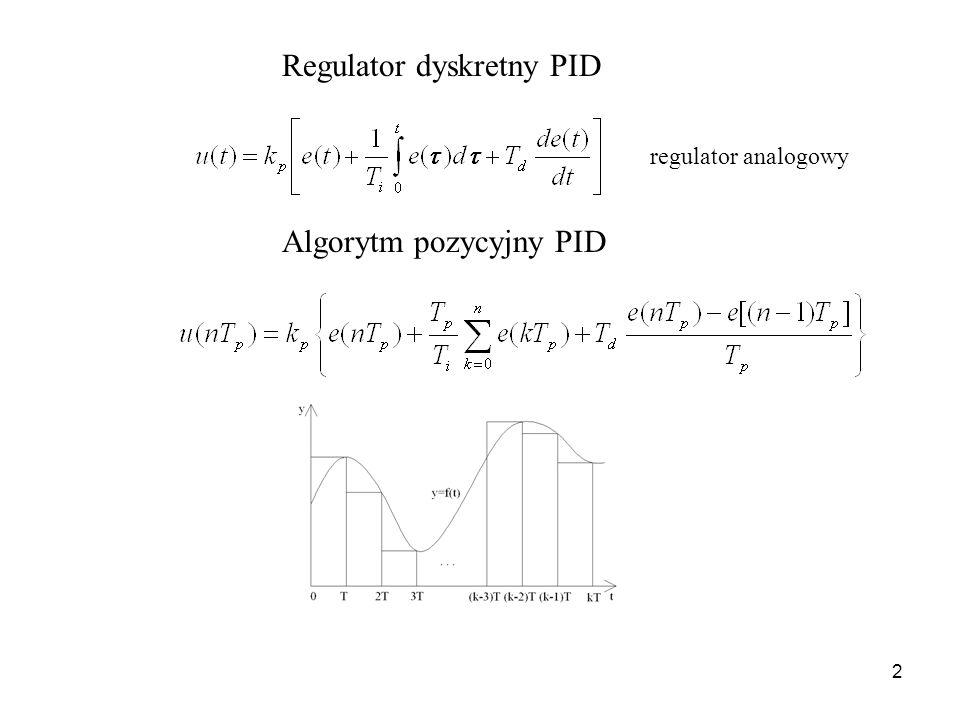 Regulator dyskretny PID
