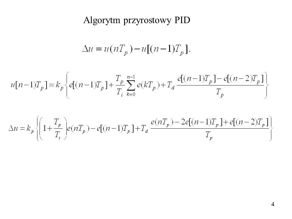 Algorytm przyrostowy PID