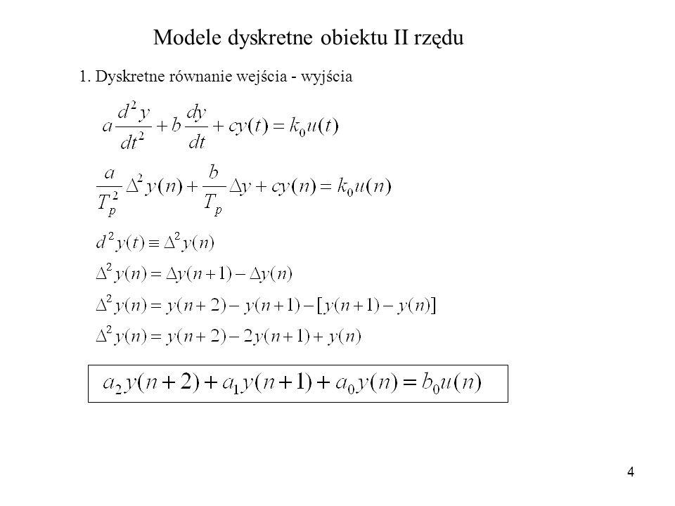 Modele dyskretne obiektu II rzędu