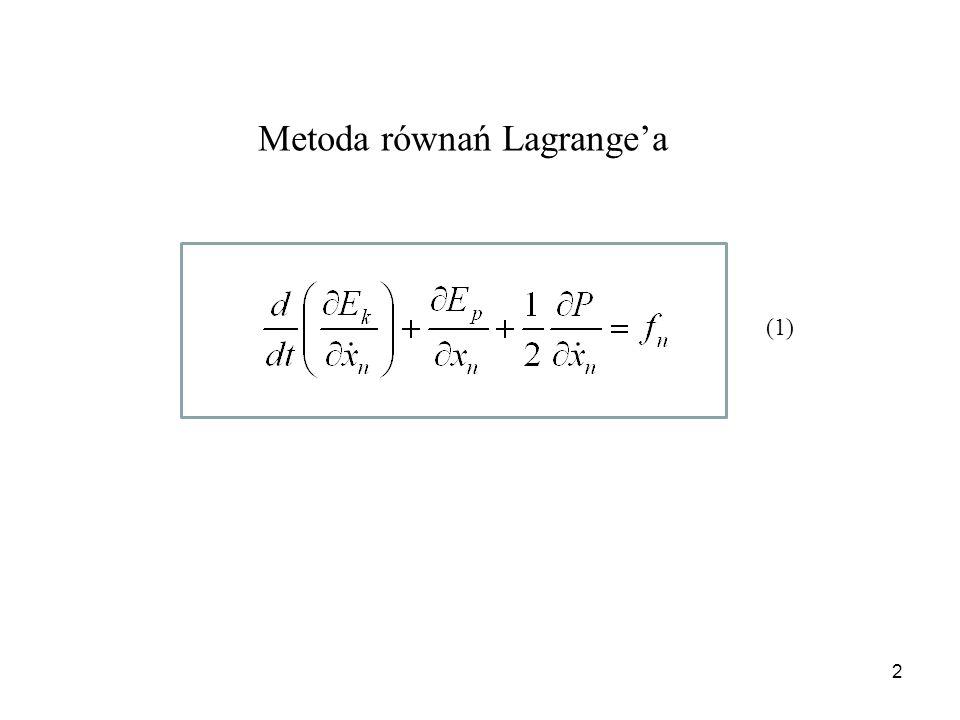 Metoda równań Lagrange'a
