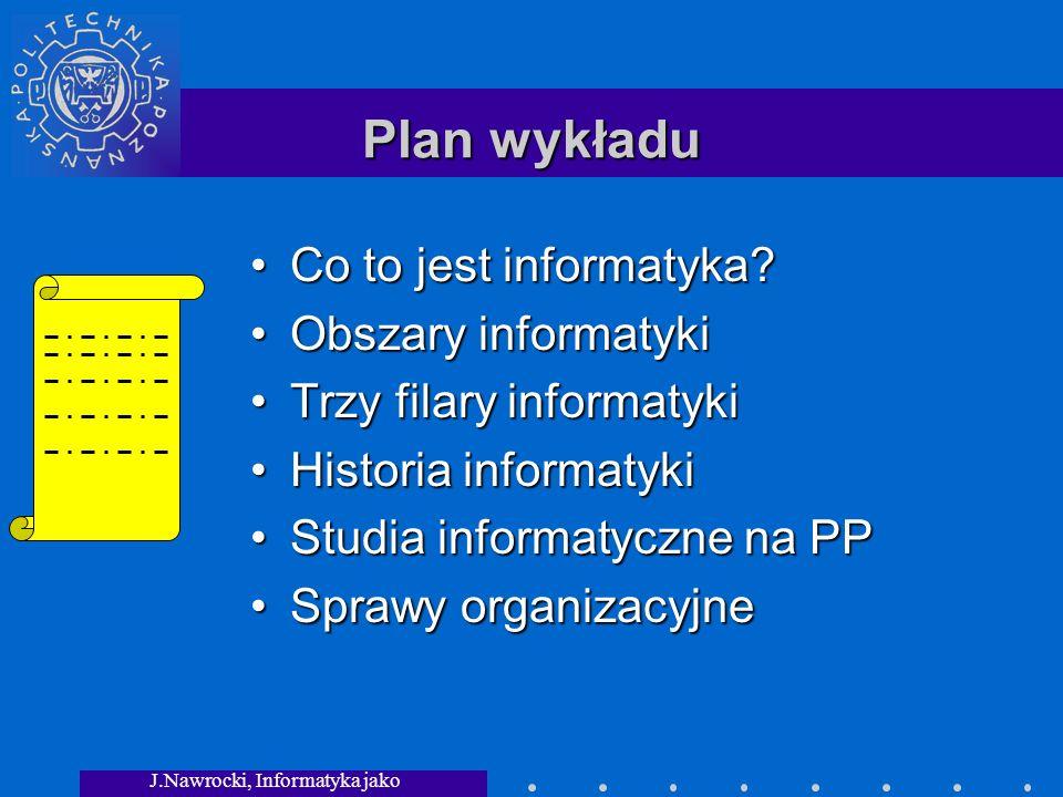 J.Nawrocki, Informatyka jako dziedzina wiedzy
