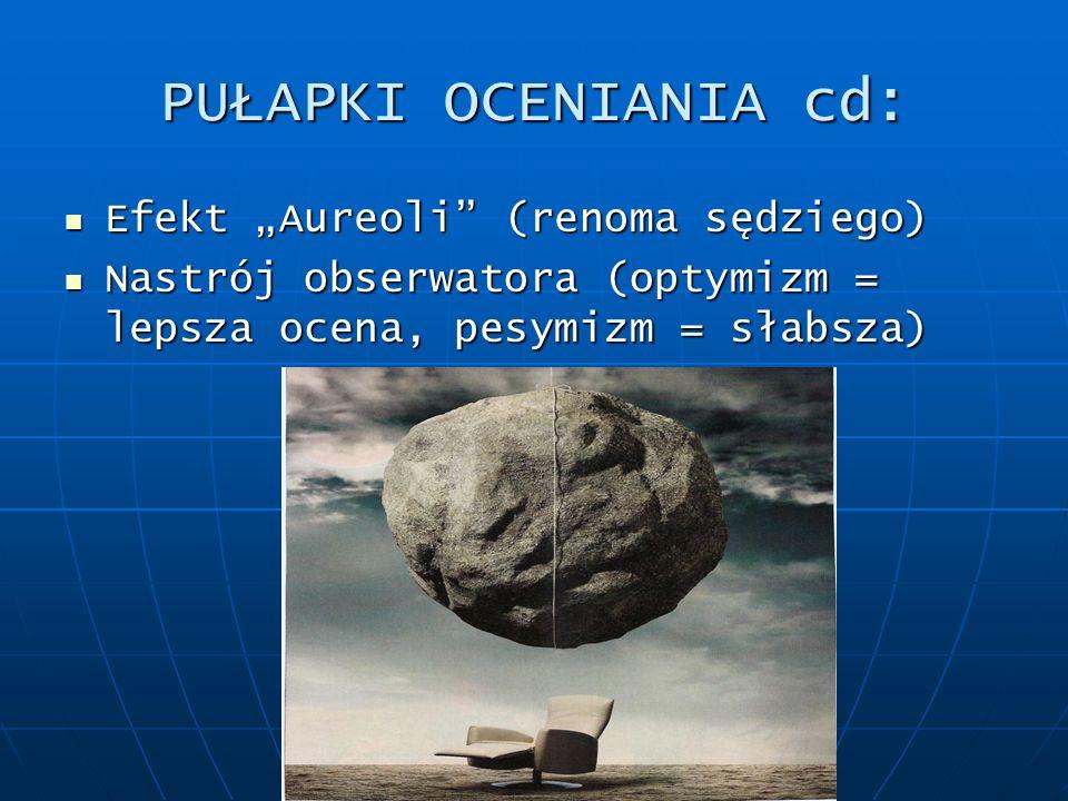 """PUŁAPKI OCENIANIA cd: Efekt """"Aureoli (renoma sędziego)"""