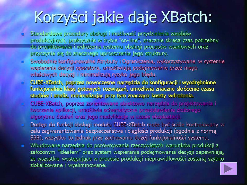 Korzyści jakie daje XBatch: