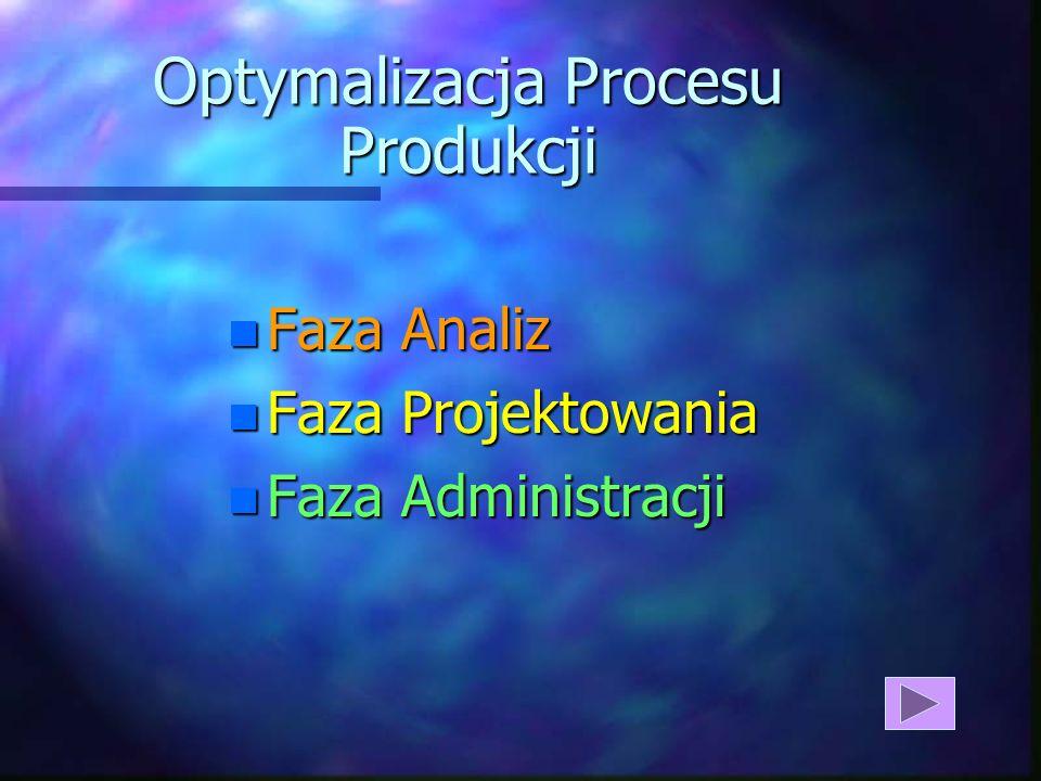 Optymalizacja Procesu Produkcji