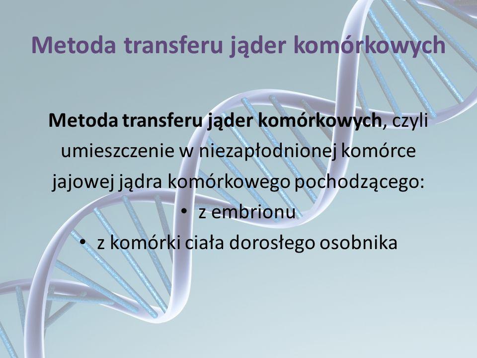 Metoda transferu jąder komórkowych