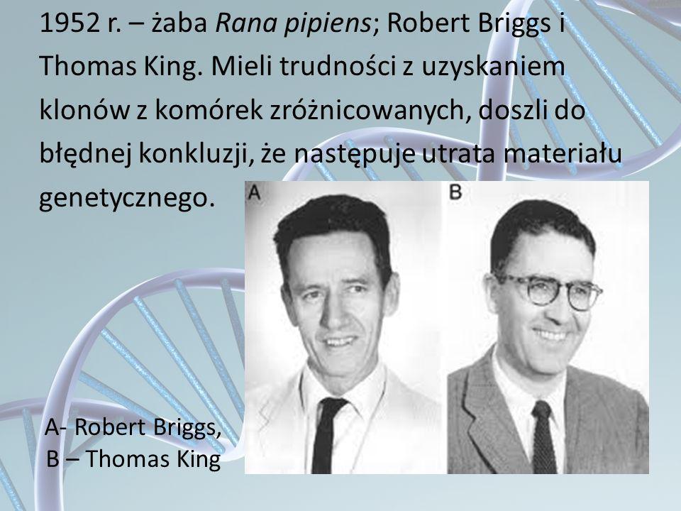 A- Robert Briggs, B – Thomas King