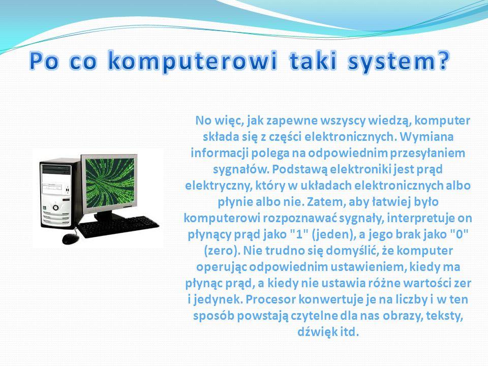 Po co komputerowi taki system