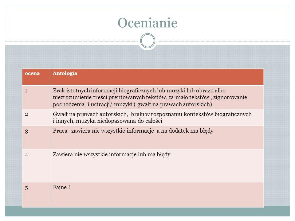 Ocenianie ocena. Antologia. 1.
