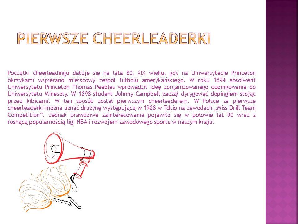 Pierwsze cheerleaderki