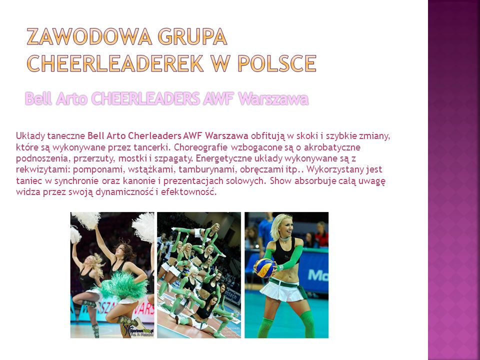 Zawodowa grupa cheerleaderek w Polsce