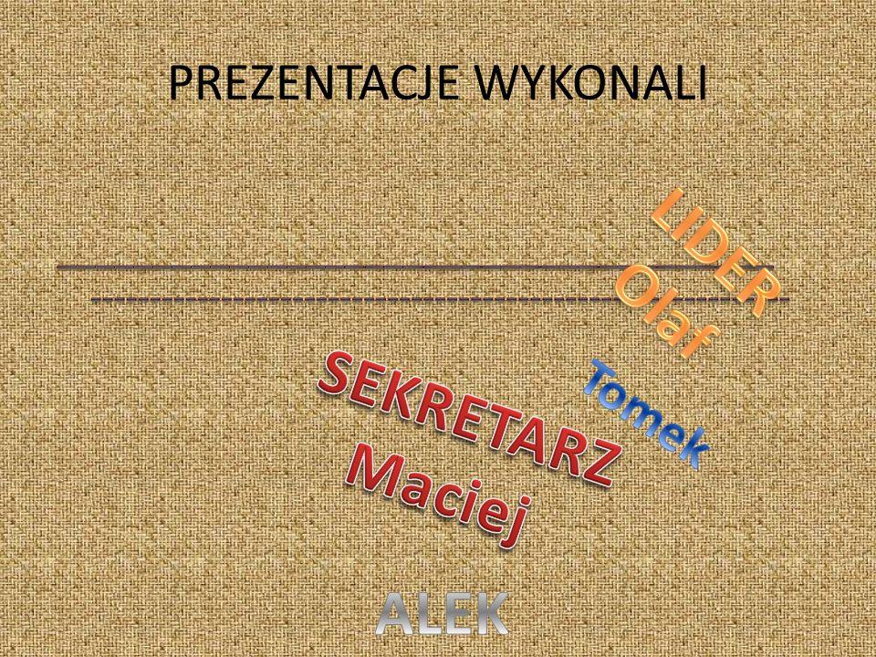 LIDER Olaf SEKRETARZ Maciej ALEK