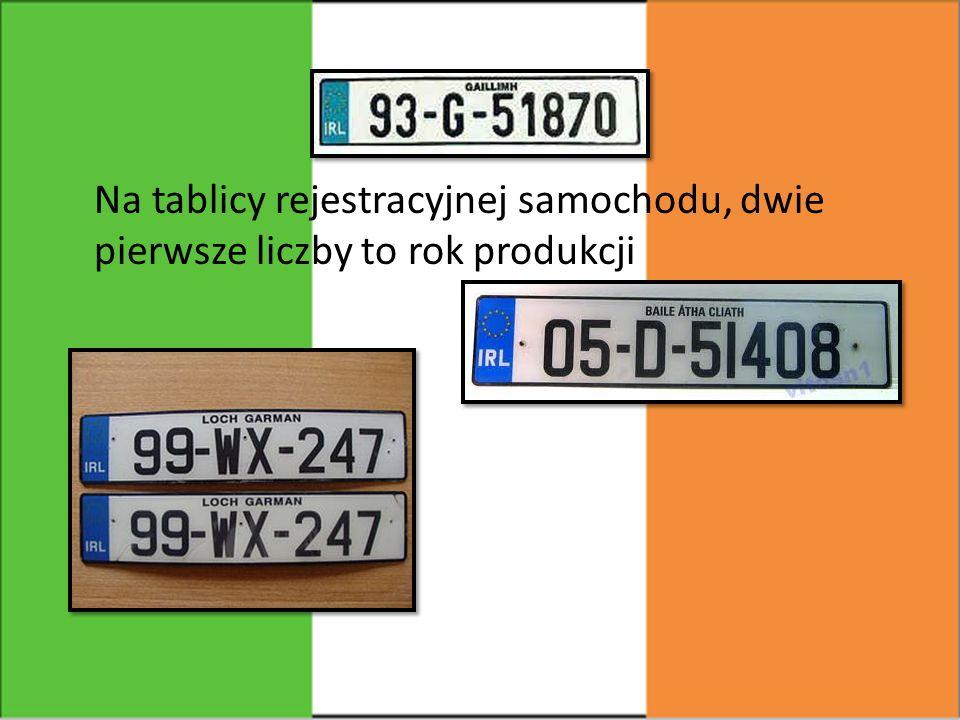 Na tablicy rejestracyjnej samochodu, dwie pierwsze liczby to rok produkcji