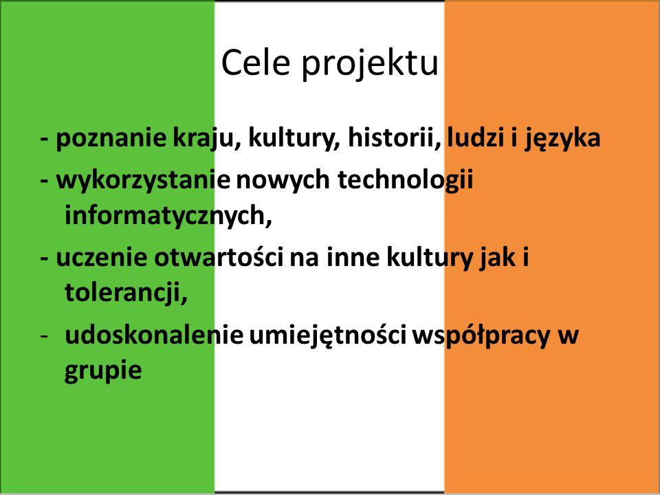 Cele projektu - poznanie kraju, kultury, historii, ludzi i języka