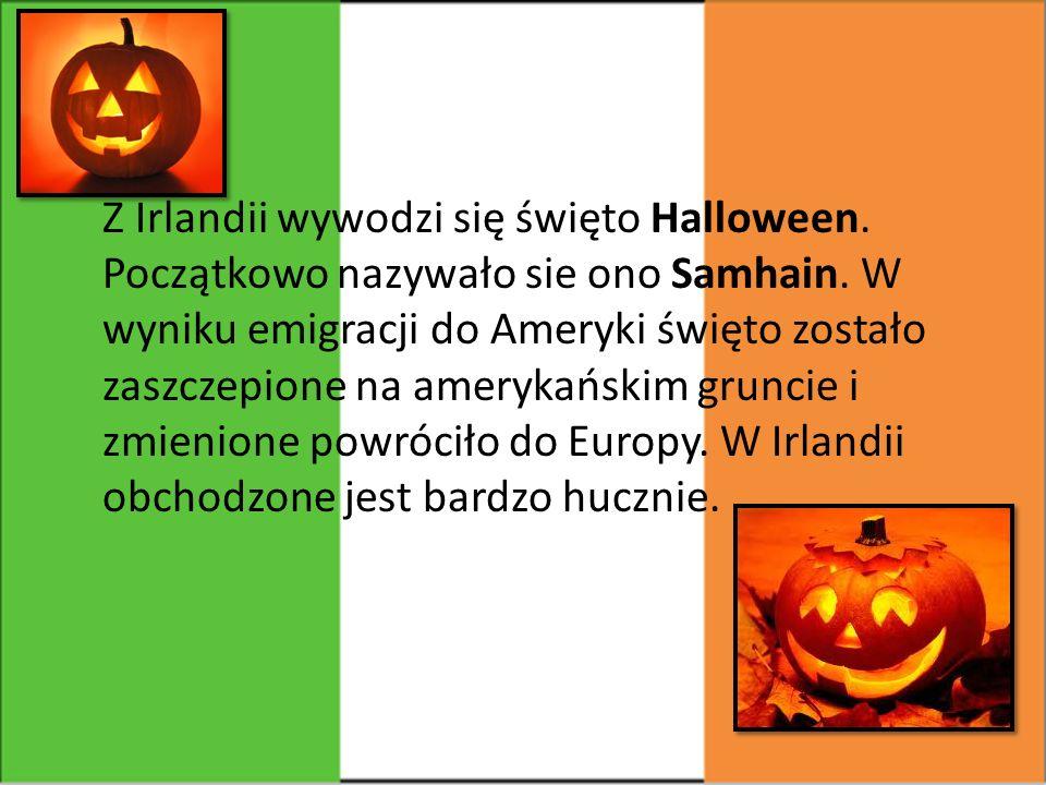 Z Irlandii wywodzi się święto Halloween