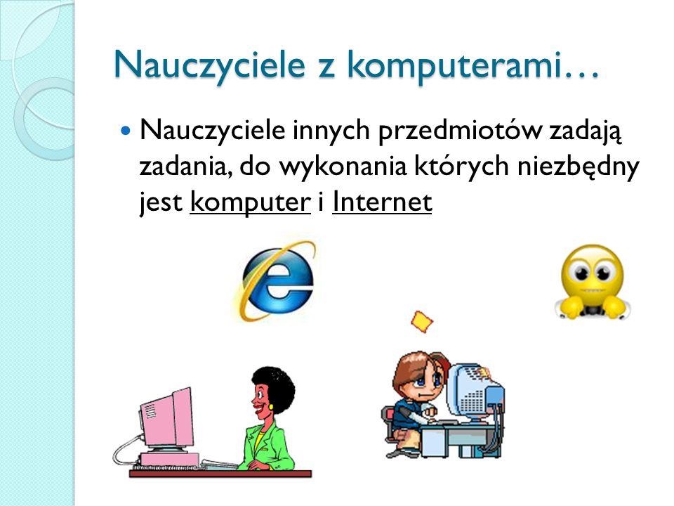 Nauczyciele z komputerami…