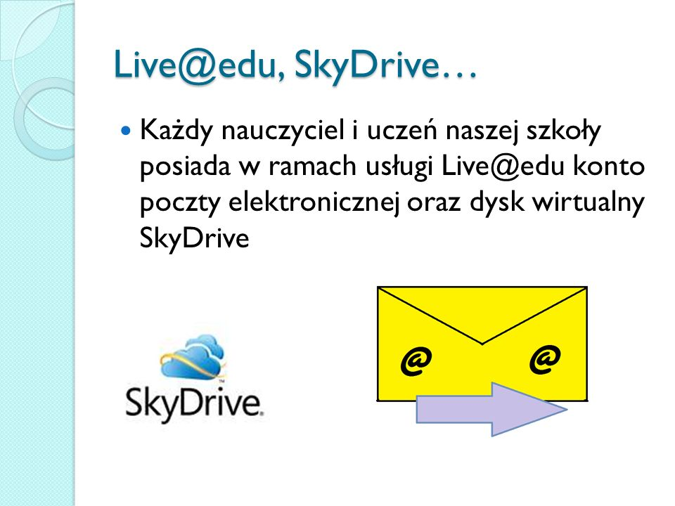 Live@edu, SkyDrive…