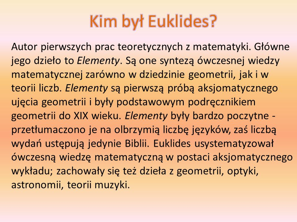 Kim był Euklides