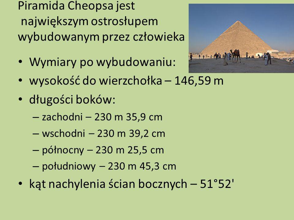 Wymiary po wybudowaniu: wysokość do wierzchołka – 146,59 m