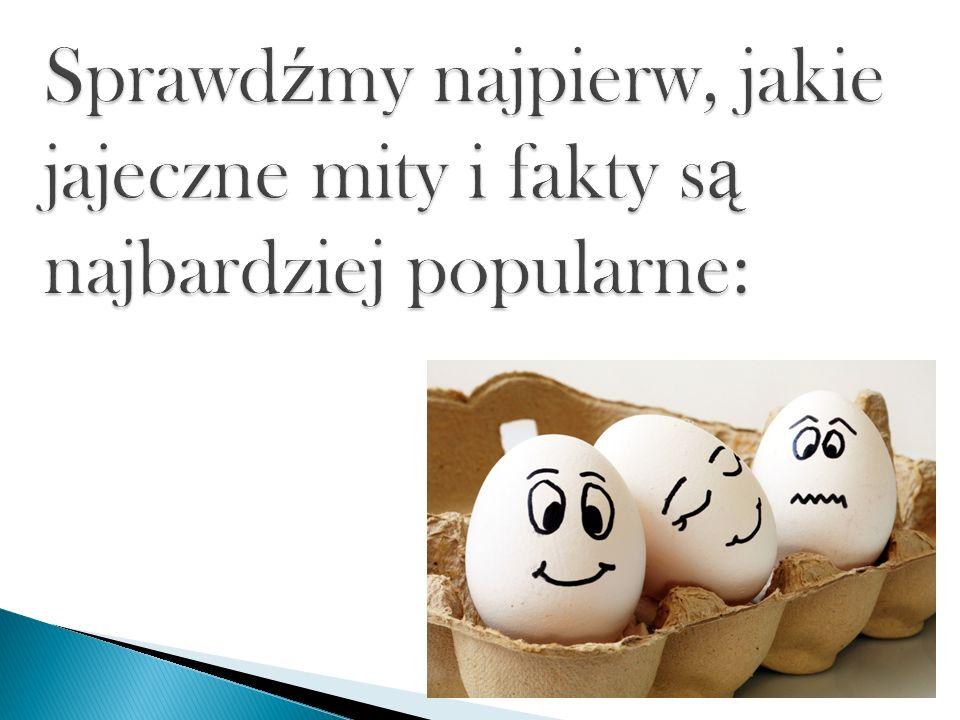 Sprawdźmy najpierw, jakie jajeczne mity i fakty są najbardziej popularne: