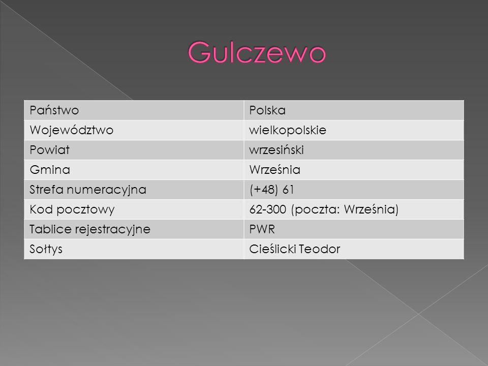 Gulczewo Państwo Polska Województwo wielkopolskie Powiat wrzesiński