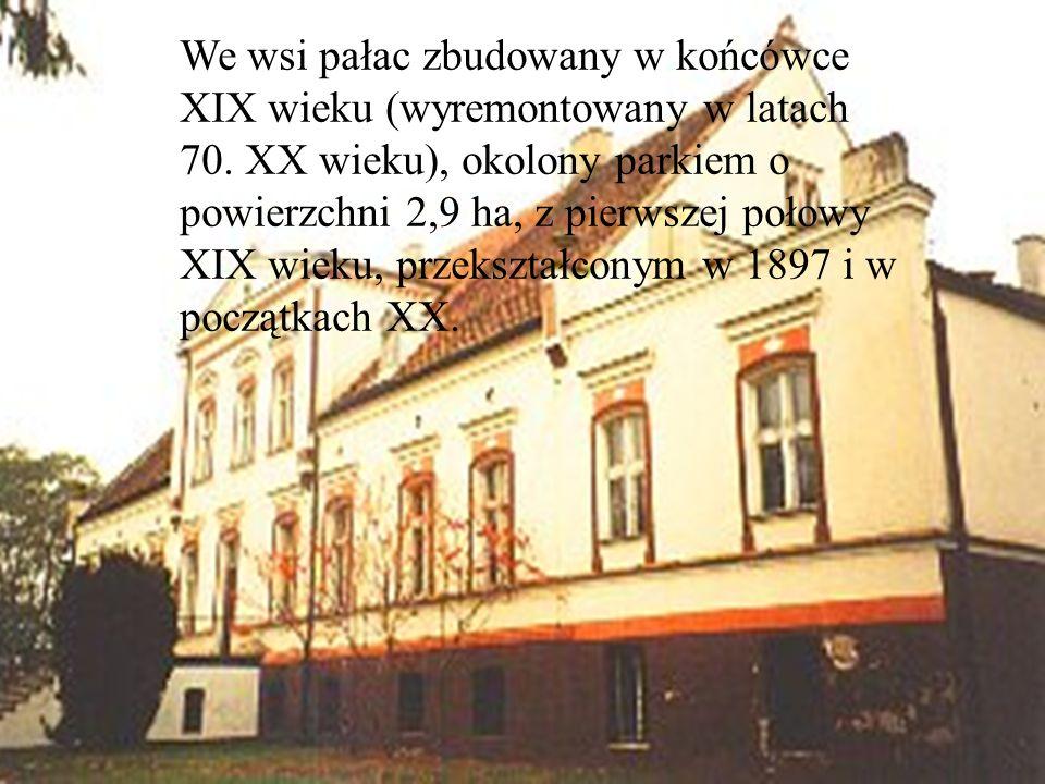 We wsi pałac zbudowany w końcówce XIX wieku (wyremontowany w latach 70