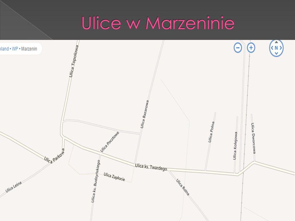 Ulice w Marzeninie