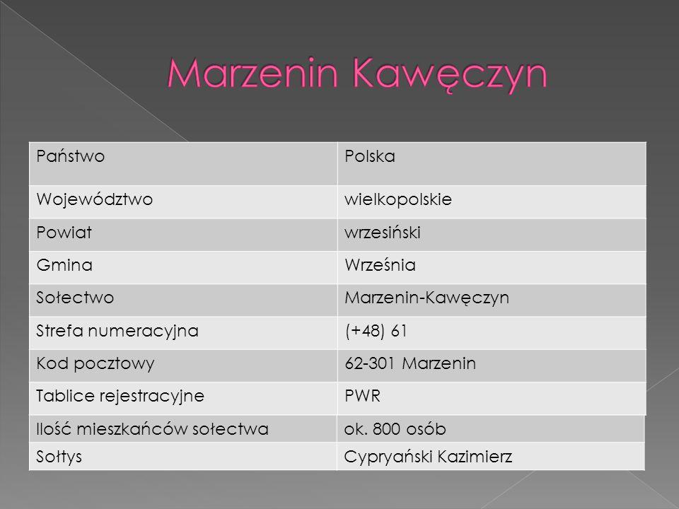 Marzenin Kawęczyn Państwo Polska Województwo wielkopolskie Powiat