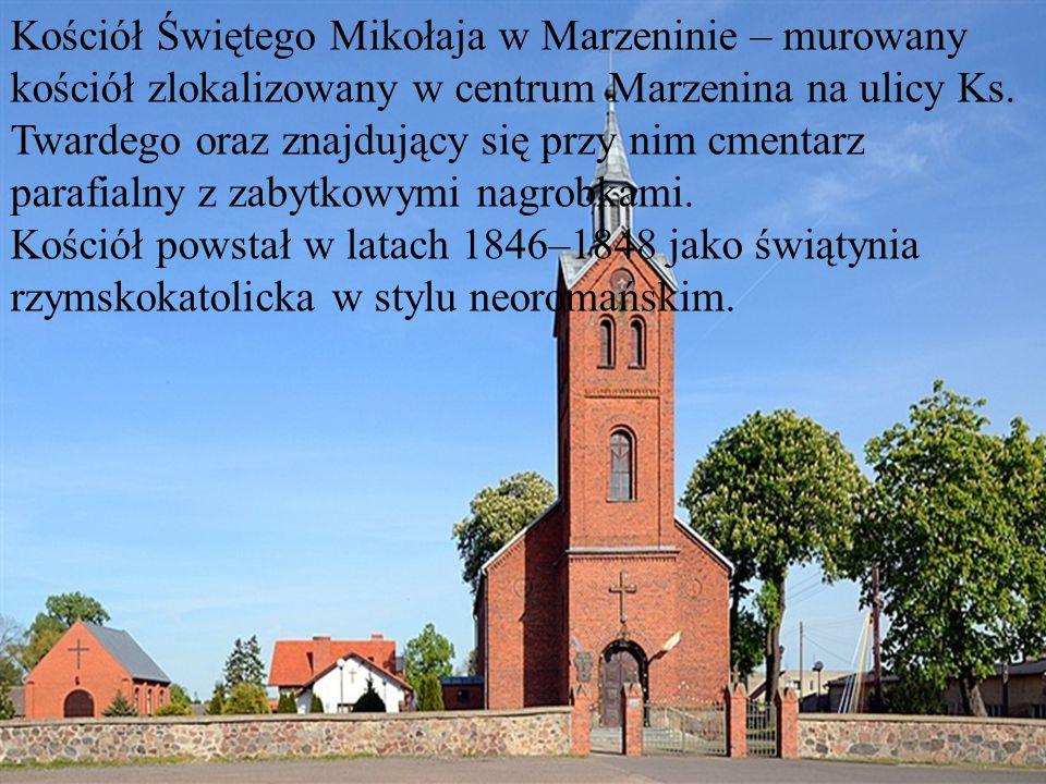 Kościół Świętego Mikołaja w Marzeninie – murowany kościół zlokalizowany w centrum Marzenina na ulicy Ks. Twardego oraz znajdujący się przy nim cmentarz parafialny z zabytkowymi nagrobkami.