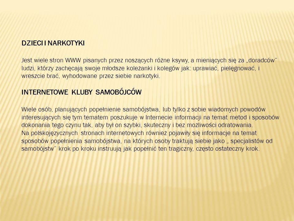 INTERNETOWE KLUBY SAMOBÓJCÓW