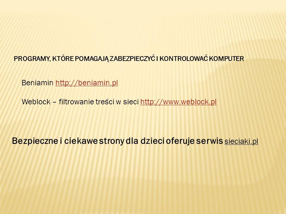 Bezpieczne i ciekawe strony dla dzieci oferuje serwis sieciaki.pl
