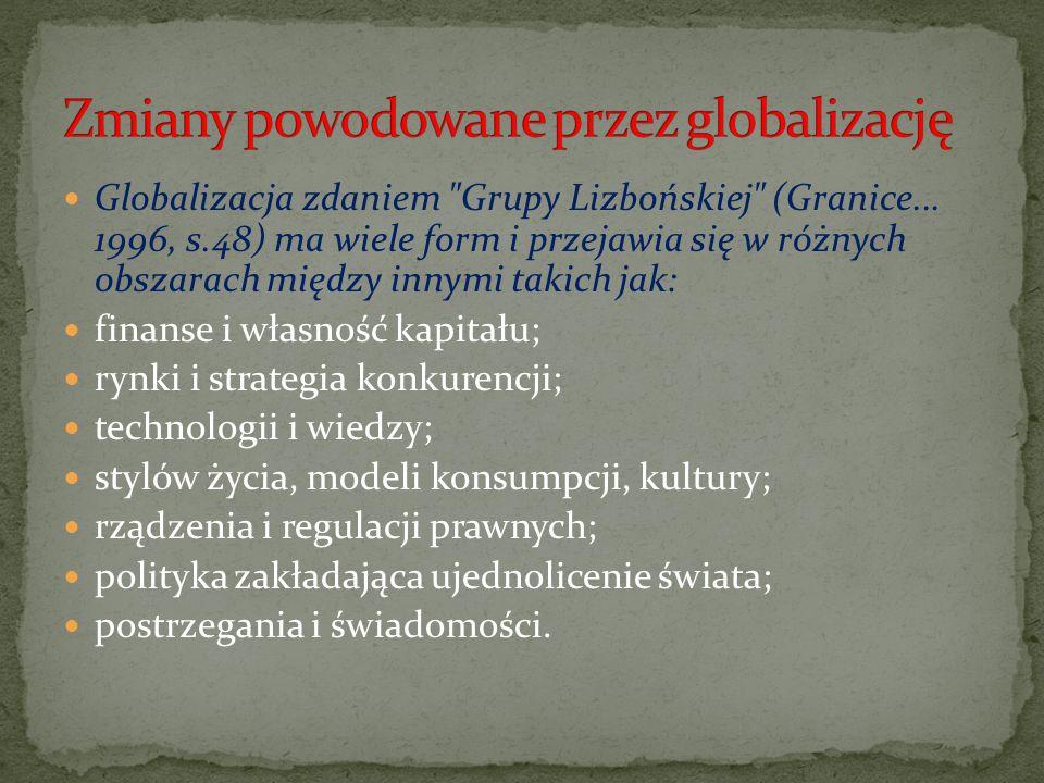 Zmiany powodowane przez globalizację