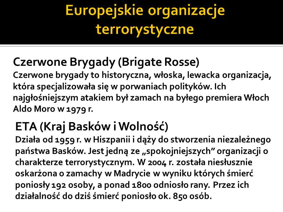 Europejskie organizacje terrorystyczne