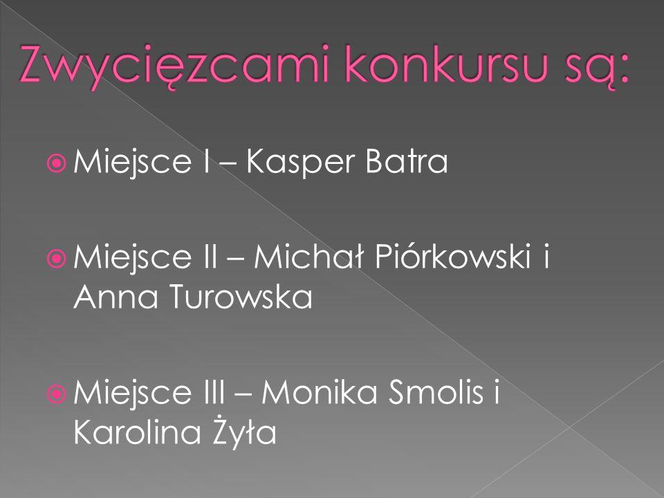 Zwycięzcami konkursu są:
