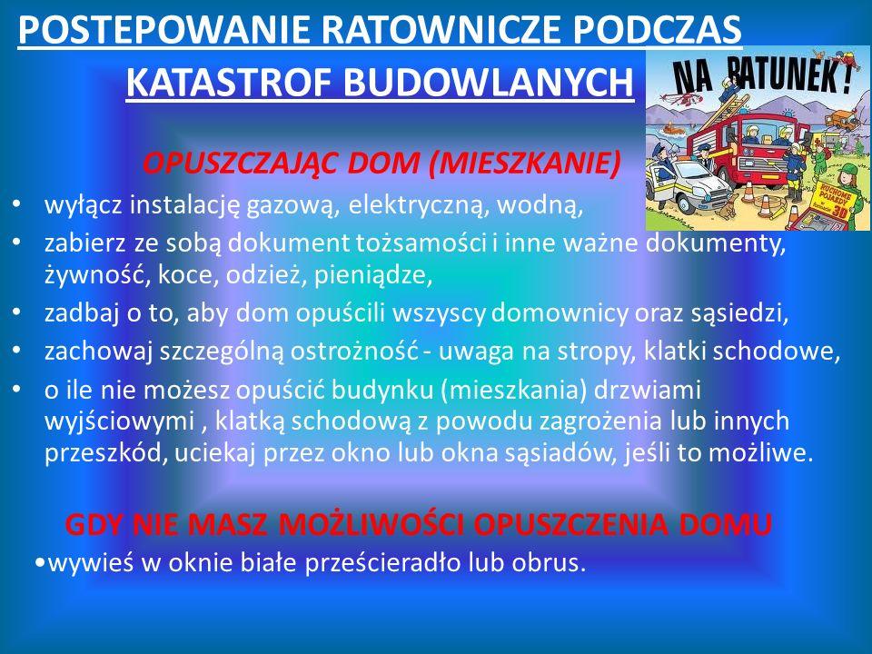 POSTEPOWANIE RATOWNICZE PODCZAS KATASTROF BUDOWLANYCH