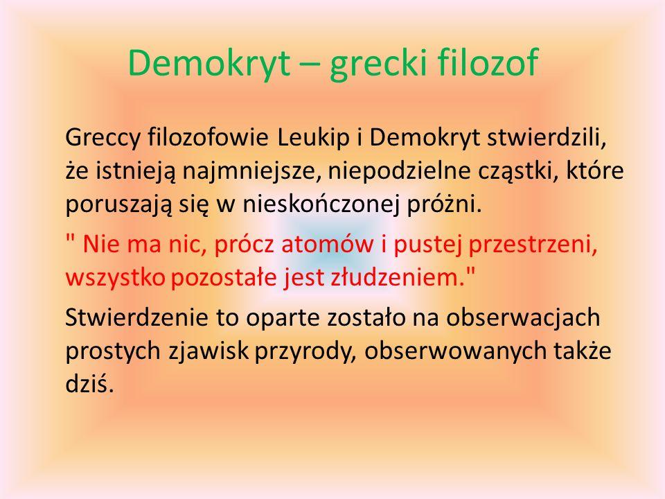 Demokryt – grecki filozof